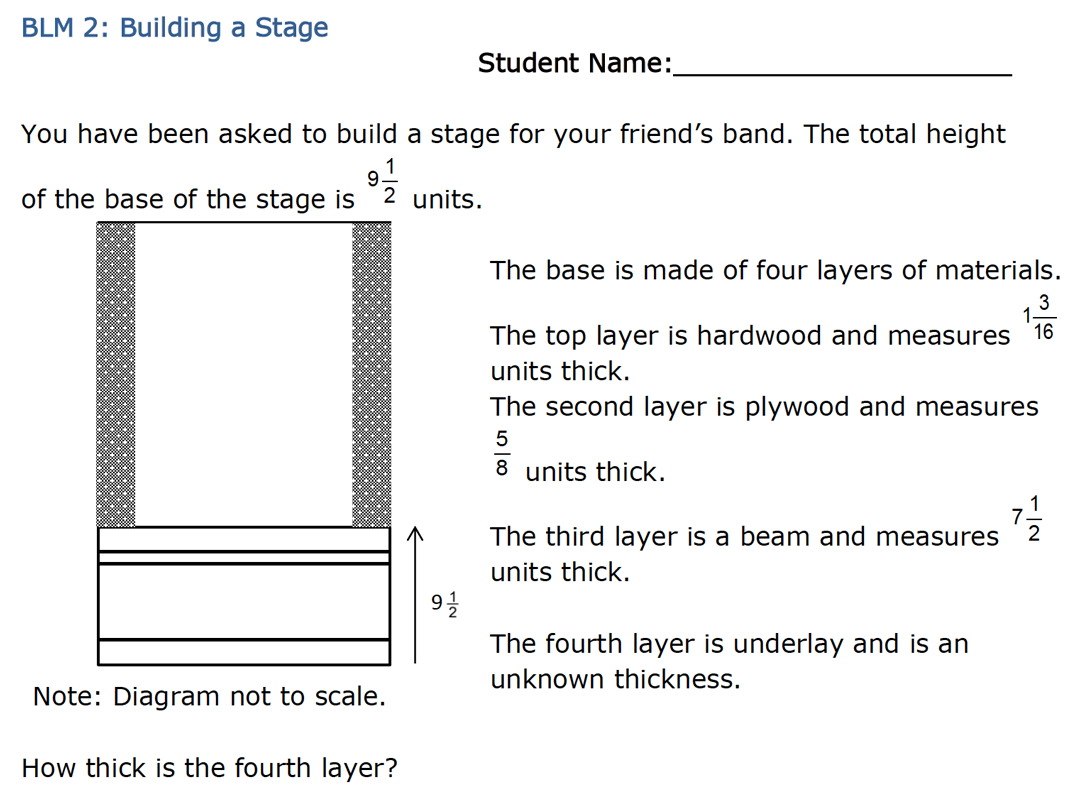 Building a Stage