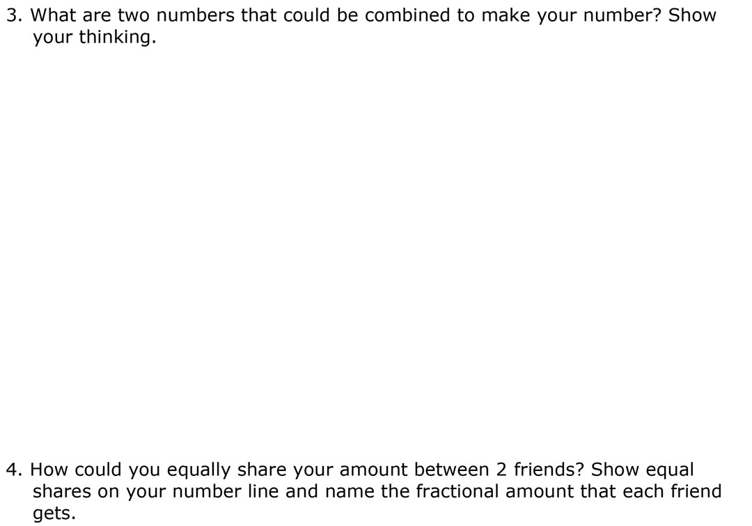 Making Mixed Numbers BLM 1 page 2